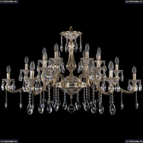 1709/18/410/A/GW Большая хрустальная подвесная люстра Bohemia Ivele Crystal