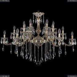 1709/18/410/B/GW Большая хрустальная подвесная люстра Bohemia Ivele Crystal