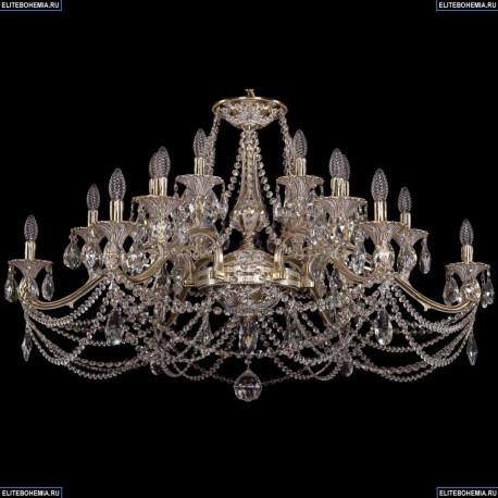 1709/18/410/C/GW Большая хрустальная подвесная люстра Bohemia Ivele Crystal