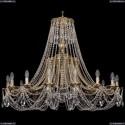 1771/16/410/C/GB Хрустальная подвесная люстра Bohemia Ivele Crystal