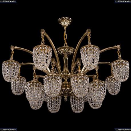 1772/16/342/GB Большая хрустальная подвесная люстра Bohemia Ivele Crystal