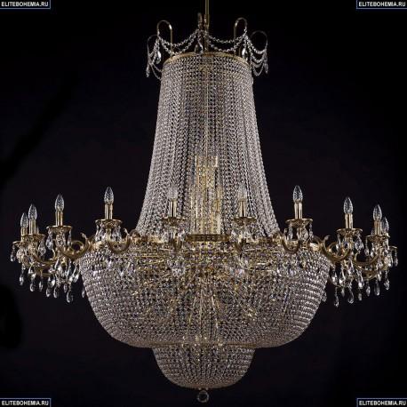 2022/160-170/GB Большая хрустальная подвесная люстра Bohemia Ivele Crystal