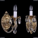 1702B/1/175/C/G Бра с элементами художественного литья и хрусталем Bohemia Ivele Crystal