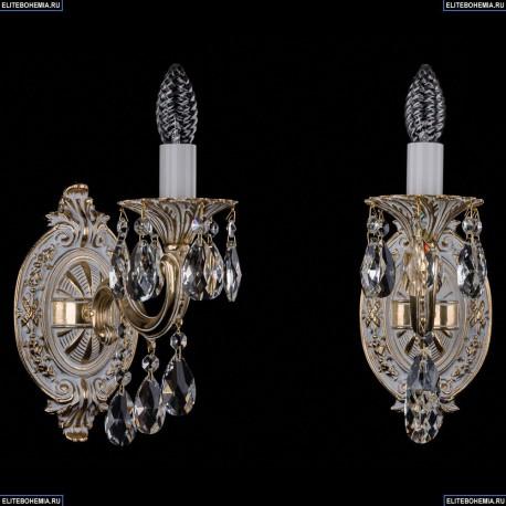 1702B/1/175/B/GW Бра с элементами художественного литья и хрусталем Bohemia Ivele Crystal