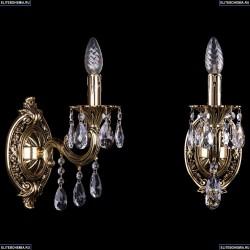 1702B/1/175/B/GB Бра с элементами художественного литья и хрусталем Bohemia Ivele Crystal