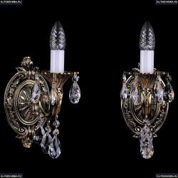 1702B/1/175/A/GB Бра с элементами художественного литья и хрусталем Bohemia Ivele Crystal
