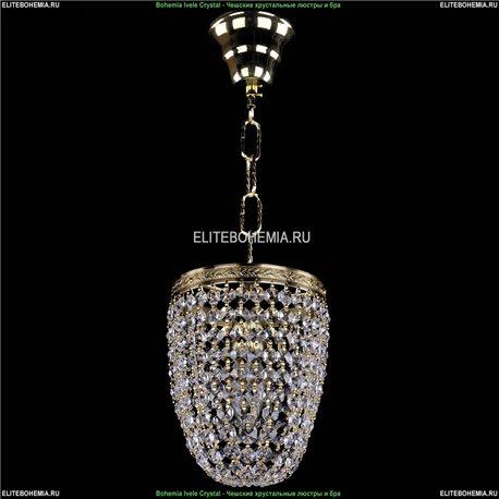 1920/15O/G Bohemia Ivele Crystal, Чешский Подвесной хрустальный светильник
