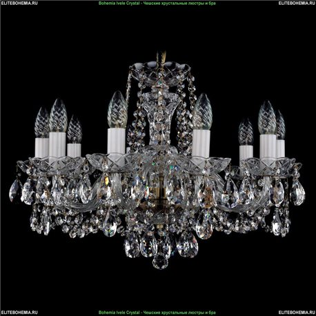 1402/10/195/FP Bohemia Ivele Crystal, Чешская Подвесная люстра с хрустальным рожком
