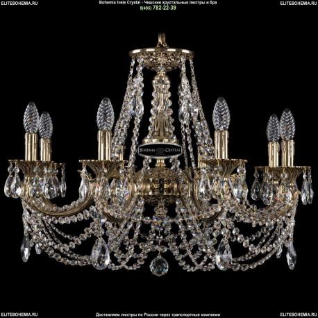 1702/8/250/C/GB Хрустальная подвесная люстра Bohemia Ivele Crystal