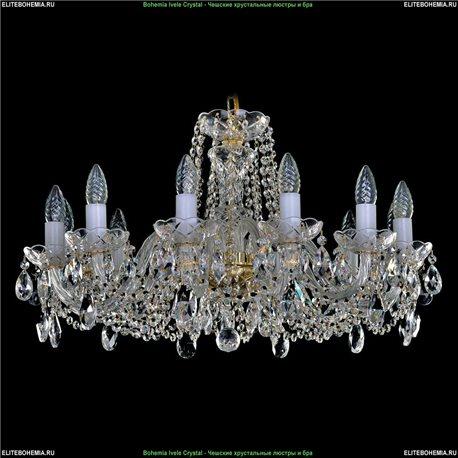 1402/12/240 Bohemia Ivele Crystal, Чешская Подвесная люстра с хрустальным рожком
