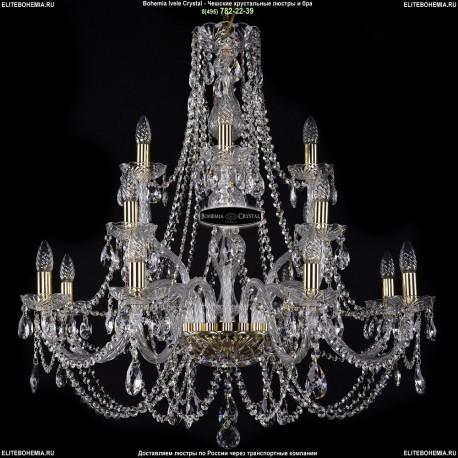 1406/8+4+4/300-89/G Хрустальная подвесная люстра Bohemia Ivele Crystal