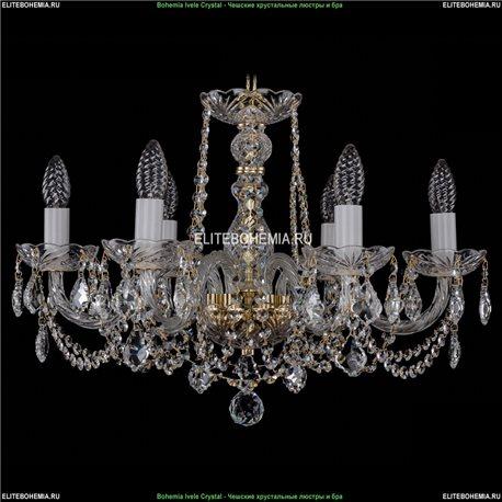 1402/6/195/G/Leafs Bohemia Ivele Crystal, Чешская Подвесная люстра с хрустальным рожком