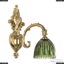 7109B15/1/210 G P1 D Clear-Green/H-1K Бра под бронзу из латуни Bohemia Ivele Crystal (Богемия), 7109