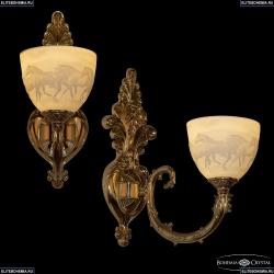 7109B15/1/210 G P1 U Horse Бра под бронзу из латуни Bohemia Ivele Crystal (Богемия), 7109