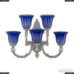 7109B15/3+2/210 NW P2 U Clear-Blue/H-1K Бра под бронзу из латуни Bohemia Ivele Crystal (Богемия), 7109