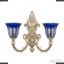 7109B15/2/210 GW P2 U Clear-Blue/H-1h Бра под бронзу из латуни Bohemia Ivele Crystal (Богемия), 7109