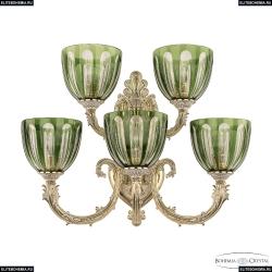 7109B16/3+2/210 GW P1 U Clear-Green/H-1H Бра под бронзу из латуни Bohemia Ivele Crystal (Богемия), 7109