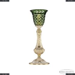 71100L/15 GW P2 Clear-Green/H-1J Настольная лампа под бронзу из латуни Bohemia Ivele Crystal (Богемия), 7100