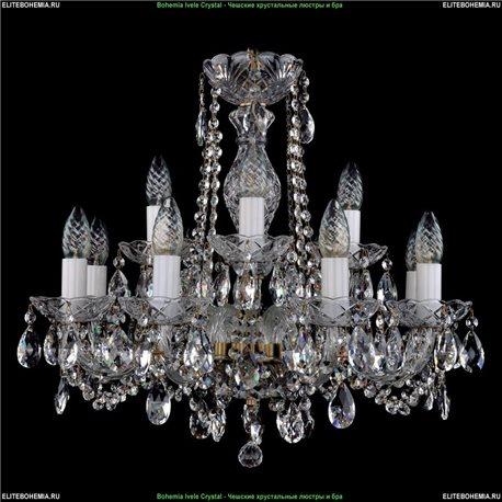 1402/8+4/240/FP Bohemia Ivele Crystal, Чешская Подвесная люстра с хрустальным рожком