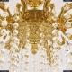 71102/10/250 B G Подвесная люстра под бронзу из латуни Bohemia Ivele Crystal (Богемия), 7102