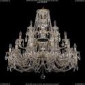 1732/12+6+3/300-85/C/GW Большая хрустальная подвесная люстра Bohemia Ivele Crystal