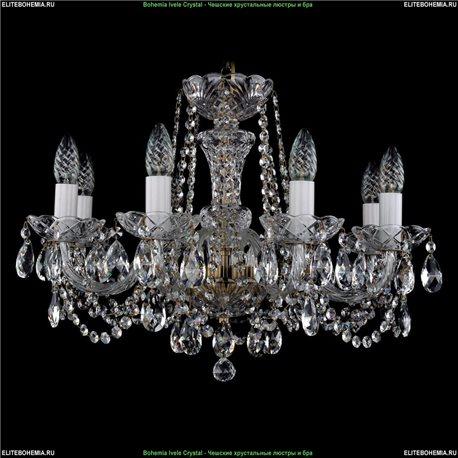 1402/8/195/FP Bohemia Ivele Crystal, Чешская Подвесная люстра с хрустальным рожком