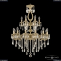 71302/12+6/250/2d B FP Подвесная люстра под бронзу из латуни Bohemia Ivele Crystal (Богемия), 7102