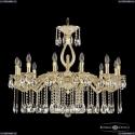 71402/12/300 A GW FL2S Подвесная люстра под бронзу из латуни Bohemia Ivele Crystal (Богемия), 7102