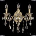 7201B10/3/175 B GW Бра под бронзу из латуни Bohemia Ivele Crystal (Богемия), 7201