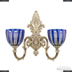 7203B15/2/210 GW P1 U Clear-Blue/H-1H Бра под бронзу из латуни Bohemia Ivele Crystal (Богемия), 7203