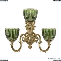 7203B16/2+1/210 G P1 U Clear-Green/H-1K Бра под бронзу из латуни Bohemia Ivele Crystal (Богемия), 7203