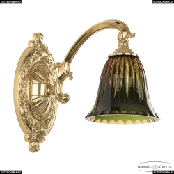 7209B10/1/175 G P2 D Amber-Green/H-1K Бра под бронзу из латуни Bohemia Ivele Crystal (Богемия), 7209