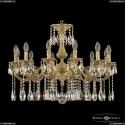 72101/12/250 A FP Подвесная люстра под бронзу из латуни Bohemia Ivele Crystal (Богемия), 7201