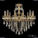 72101/12/250 B FP Подвесная люстра под бронзу из латуни Bohemia Ivele Crystal (Богемия), 7201