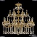 72101/12+6/300/2d A G Подвесная люстра под бронзу из латуни Bohemia Ivele Crystal (Богемия), 7201