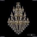 72101/16+8+8/360/3d B GB Подвесная люстра под бронзу из латуни Bohemia Ivele Crystal (Богемия), 7201