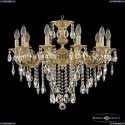 72201/10/210 B FP Подвесная люстра под бронзу из латуни Bohemia Ivele Crystal (Богемия), 7201