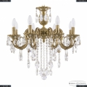 72203/8/175 B FP Подвесная люстра под бронзу из латуни Bohemia Ivele Crystal (Богемия), 7203