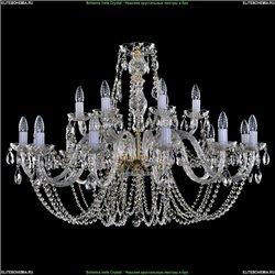 1406/12+6/400/G Хрустальная подвесная люстра Bohemia Ivele Crystal (Богемия)