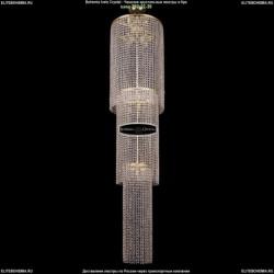 2130/40-170/G Большая хрустальная люстра каскадная Bohemia Ivele Crystal