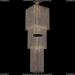 2180/45-160/G Большая хрустальная люстра каскадная Bohemia Ivele Crystal