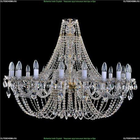 1406/18/400 Bohemia Ivele Crystal, Чешская Подвесная люстра с хрустальным рожком