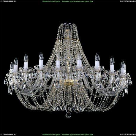 1406/20/400 Bohemia Ivele Crystal, Чешская Подвесная люстра с хрустальным рожком