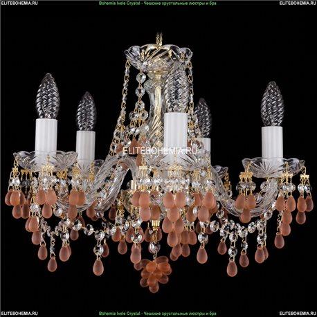 1410/5/141/G/7010 Bohemia Ivele Crystal, Чешская Подвесная люстра с хрустальным рожком