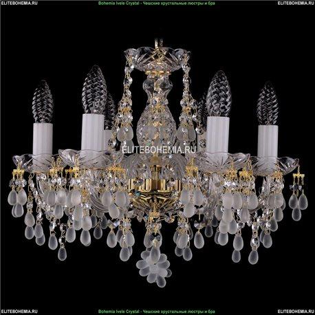 1410/6/141/G/0300 Bohemia Ivele Crystal, Чешская Подвесная люстра с хрустальным рожком