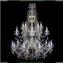 1411/10+5+5/400/G Хрустальная подвесная люстра Bohemia Ivele Crystal (Богемия)