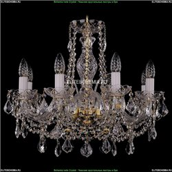1411/8/195/G/Leafs Хрустальная подвесная люстра Bohemia Ivele Crystal