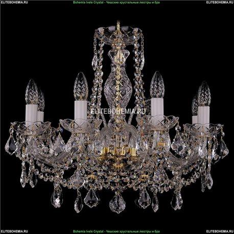 1411/8/195/G/Leafs Bohemia Ivele Crystal, Чешская Подвесная люстра с хрустальным рожком