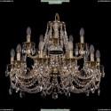 1722/10+5/265+181/C/GB Хрустальная подвесная люстра Bohemia Ivele Crystal