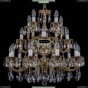 1732/10+5+5/265-68/A/GB Хрустальная подвесная люстра Bohemia Ivele Crystal